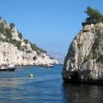 Les calanques de Marseille Cassis en Méditerrannée
